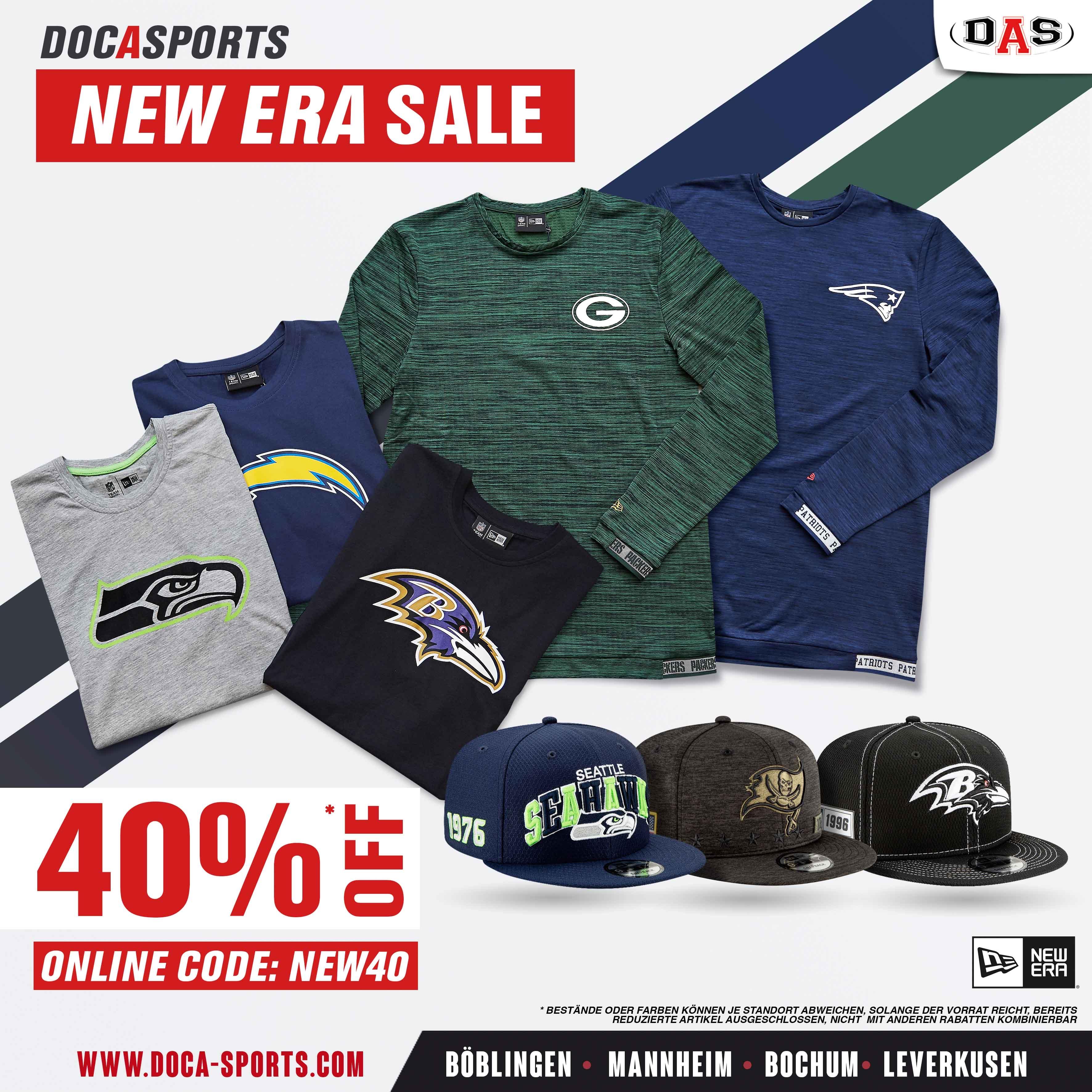NEW ERA NFL Fanartikel 40% SALE