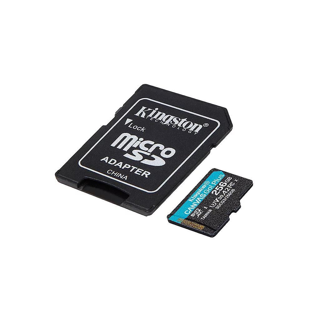 [Cyberport][Versand] Kingston Canvas Go! Plus 256GB Kit R170/W90 microSDXC, UHS-I U3, A2, Class 10 (SDCG3/256GB)