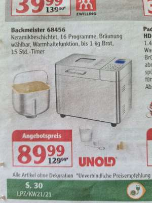 Unold Backmeister 68456 Brotbackautomat