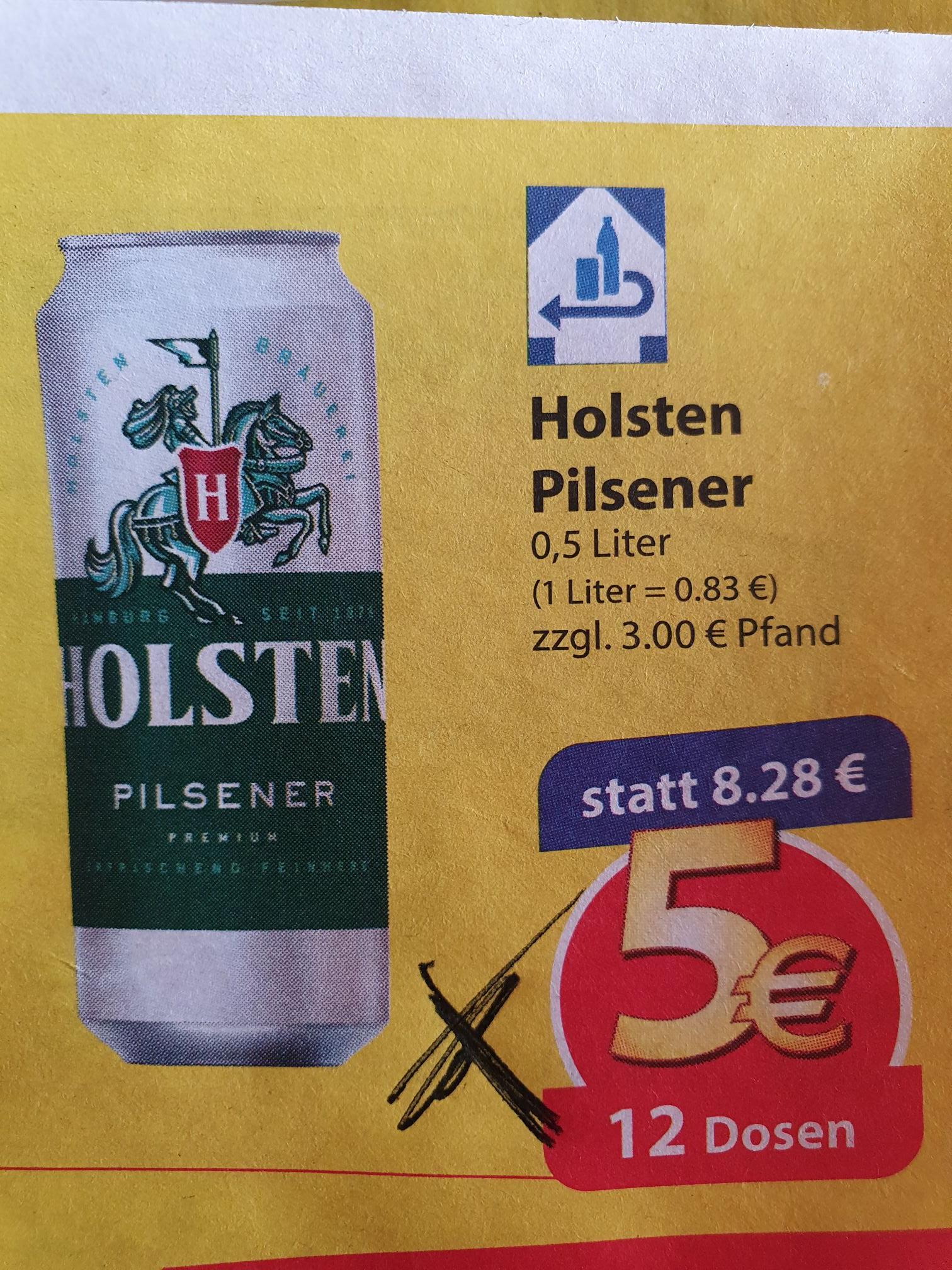 12 Dosen Holsten Pilsener für 5,-€ bei famila Kiel (NordOst lokal und offline)