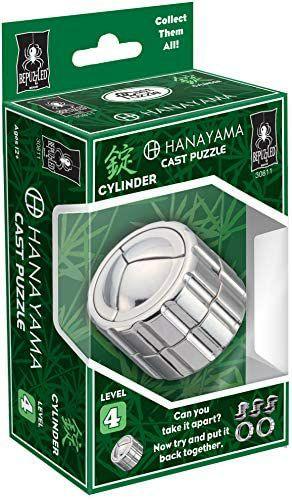 Hanayama Cast Puzzle Cylinder, Gusszink, Level 4, Gehirntraining, ab 12 Jahren und zwei weitere [Amazon Prime]