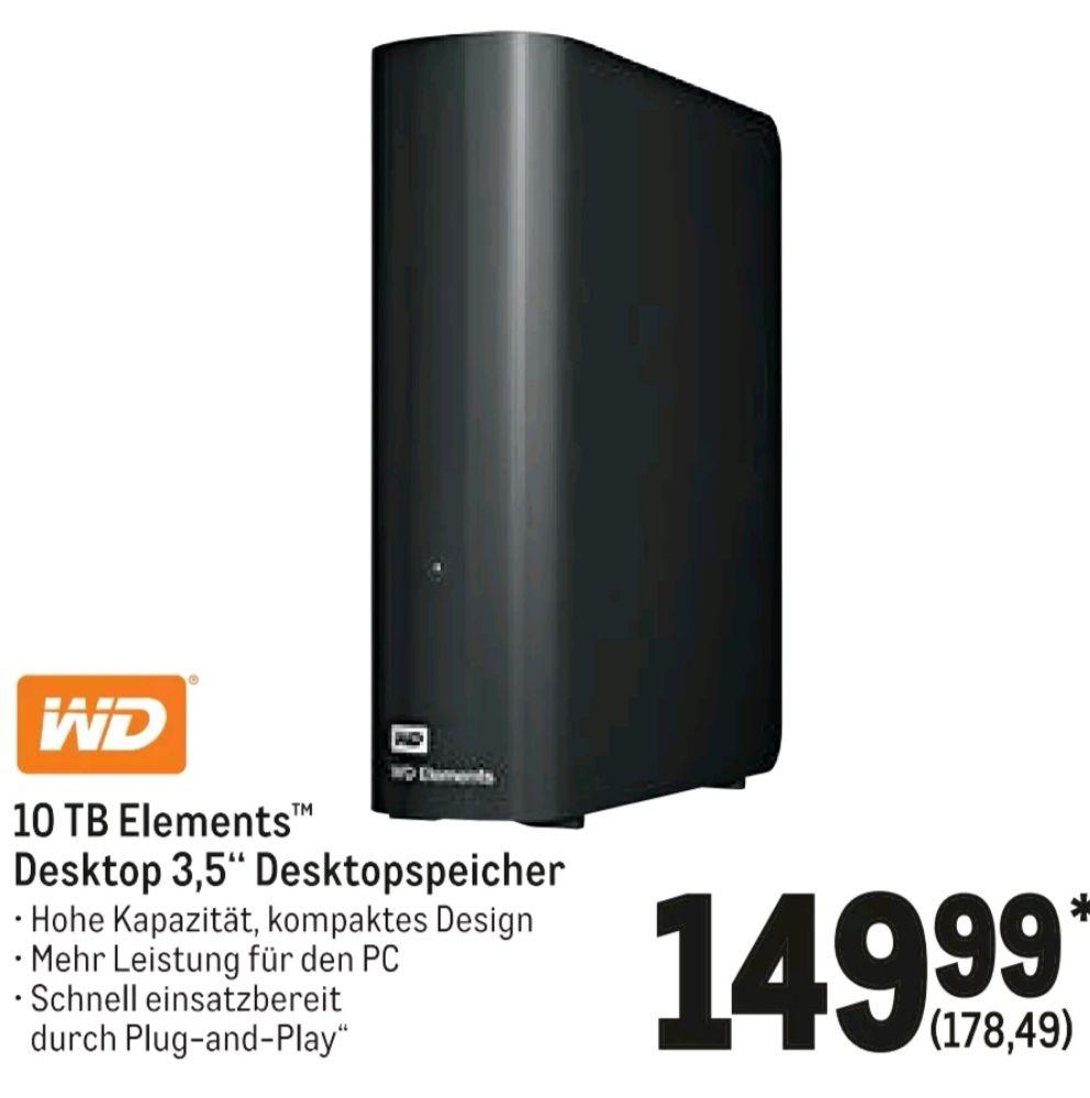Festplatte WD Elements 10 TB Metro