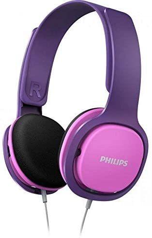 [Amazon Prime] Philips Kinderkopfhörer SHK2000PK/00 Kinderkopfhörer On Ear in Pink/Lila