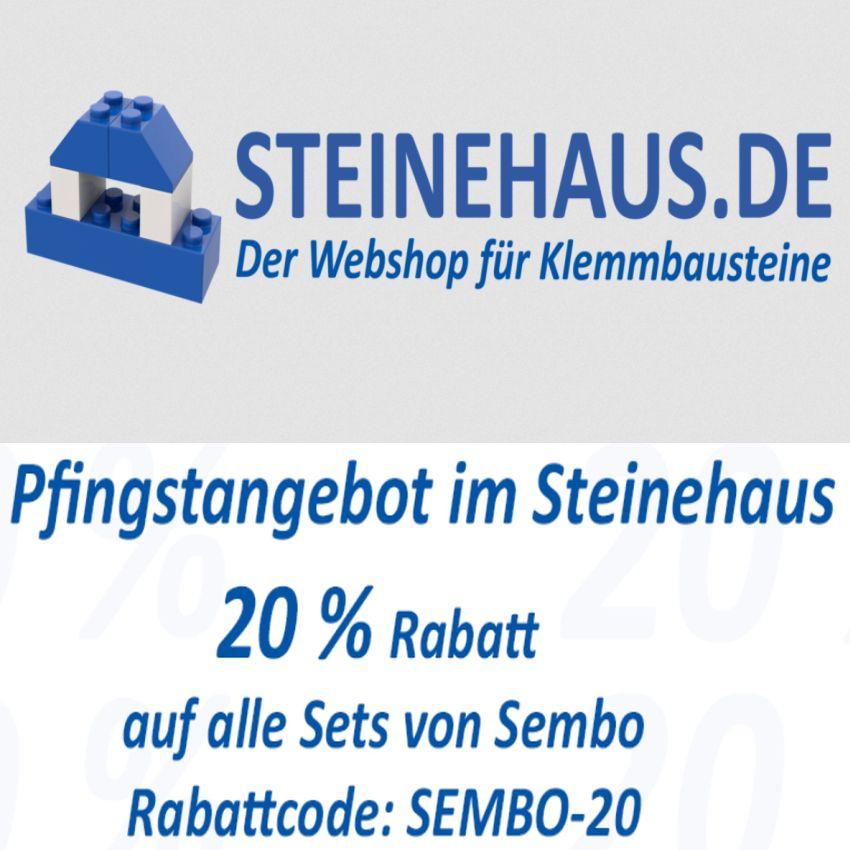 [Klemmbausteine] 20% Rabatt auf Sembo @ steinehaus.de