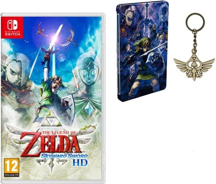 The Legend Of Zelda: Skyward Sword HD (Switch) inkl. Steelbook & Schlüsselanhänger für 52,18€ (Base)