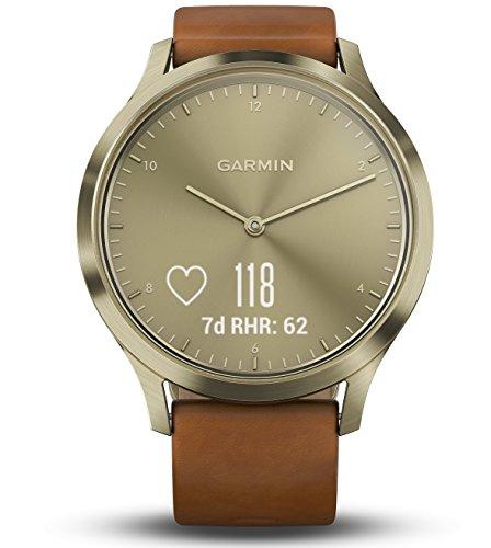 [amazon] Garmin vivomove HR Premium S/M gold/braun