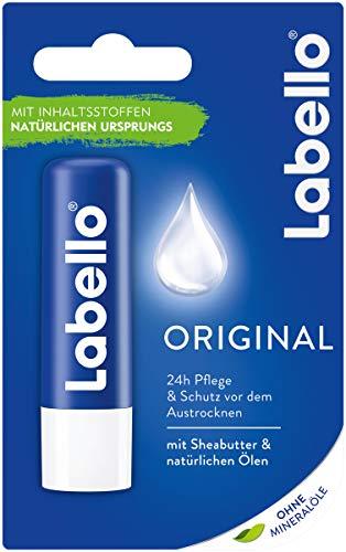 Amazon Prime: 5x Labello Lippenpflegestift, ohne Mineralöle , je Stift 4,8 Gramm Inhalt