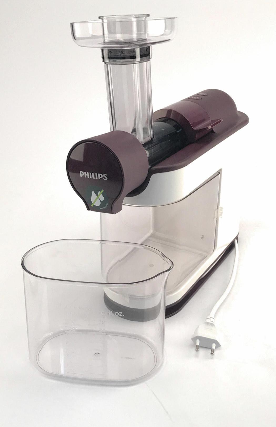 Philips Avance HR1891/80 Entsafter Slow Juicer 200 W Saftpresse weiß/lila