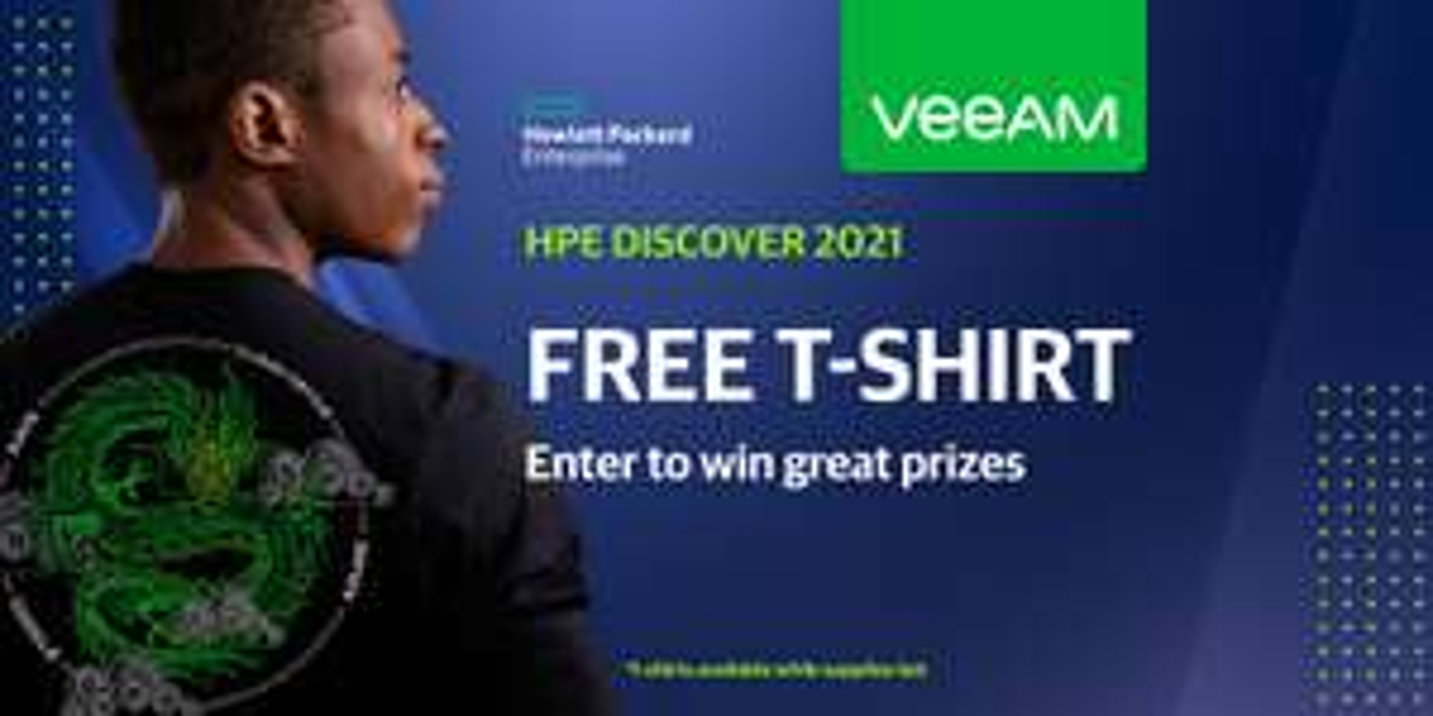 Gratis HPE Veeam Langarmshirt mit Business Email