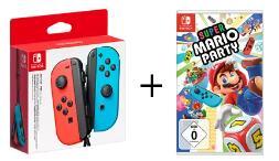 NINTENDO Switch Joy-Con 2er-Set Controller in 4 Farben + Super Mario Party