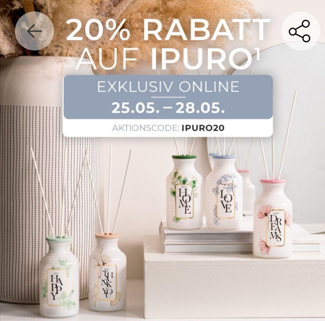 20% auf Ipuro Artikel bei Depot