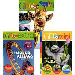 GEO Kindermagazine im Abo mit 47% Rabatt: GEOlino für 35,09 € | GEOlino extra für 25,60 € | GEOlino mini für 29,86 €
