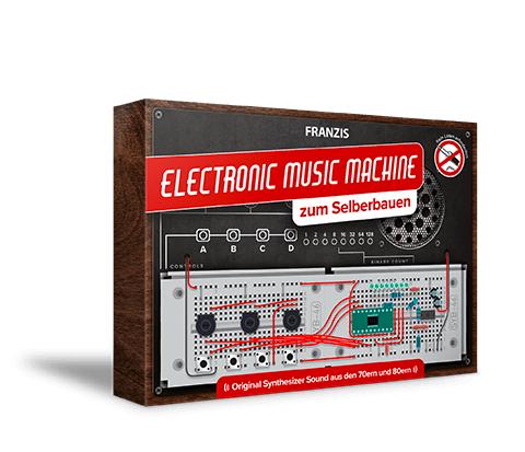 Franzis Electronic Music Machine Bausatz (Kein Löten erforderlich, 3x1,5-Volt AA Batterien benötigt, 70er und 80er Jahre Synthesizer Sound)