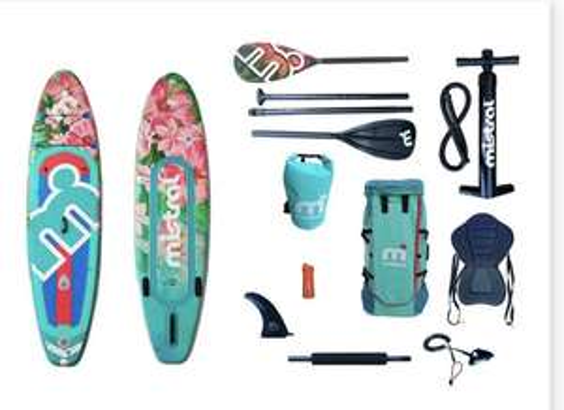 Online erhältlich// mistral SUP-Board »Floral«, mit Doppelkammer, 3-Finnen-System