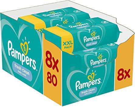 [Globus] Pampers Feuchttücher Fresh Clean 8x80 Stück(640 Stück je 0.0125€)