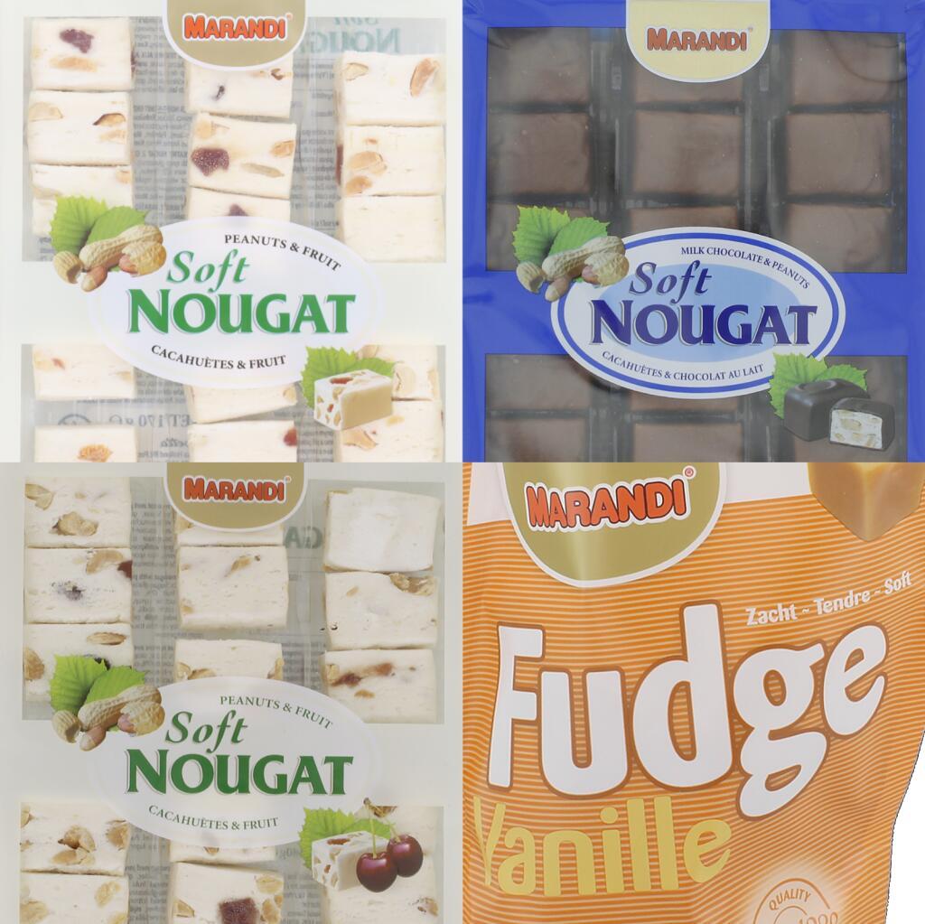 MARANDI 180g Fudge & div. Sorten Soft Nougat (4,39€/kg)