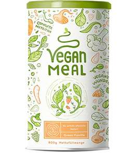 Vegan Meal - Alpha Foods [Prime Sparabo oder 3,99 Versand], pflanzl. Mahlzeitersatz, Protein, Vitalpilze, Adaptogene, 800g veganes Pulver