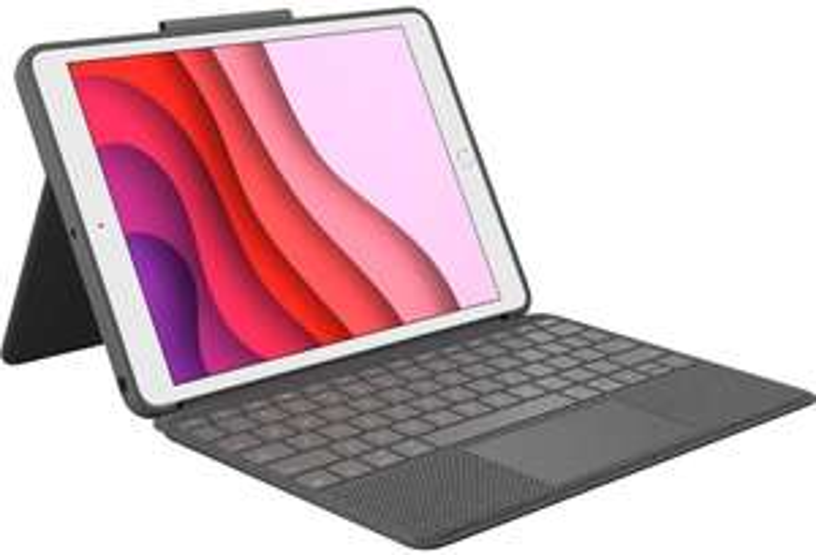 Logitech Slim Combo iPad 10.5 Grau Tastatur
