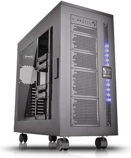 "Thermaltake Core W100 PC-Gehäuse (142l, bis XL-ATX, Platz für 19x 140mm-Lüfter, 3x 5.25"", 10x 3.5"" intern, 4x USB-A 3.0, Acrylfenster, 22kg)"