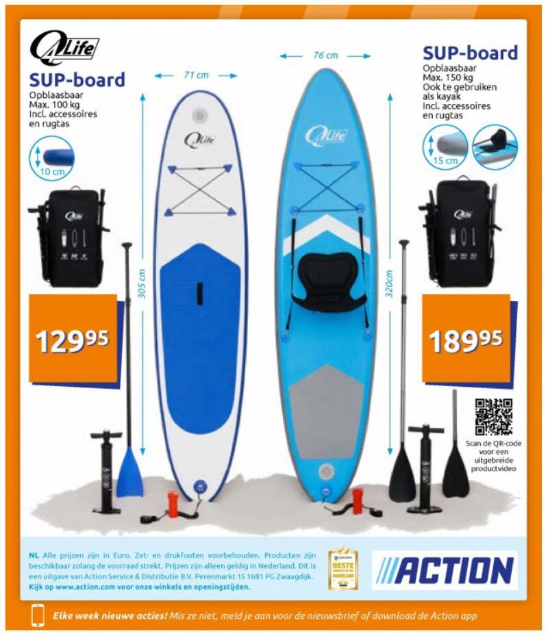Q4Life SUP Board (305cm/100kg oder 320cm/150kg) ab 99,-€ [Europa]