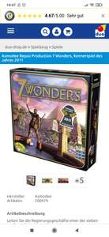 Asmodee Repos 7 Wonders (alte Ausgabe)
