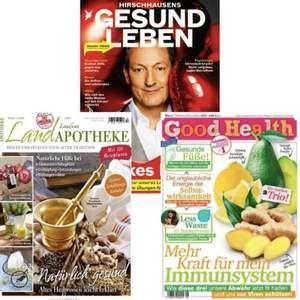 Gesundheitsmagazine im Abo: Good Health für 21,12 € | Hirschhausens Stern Gesund Leben für 20,16 € | Landapotheke 11,95 €