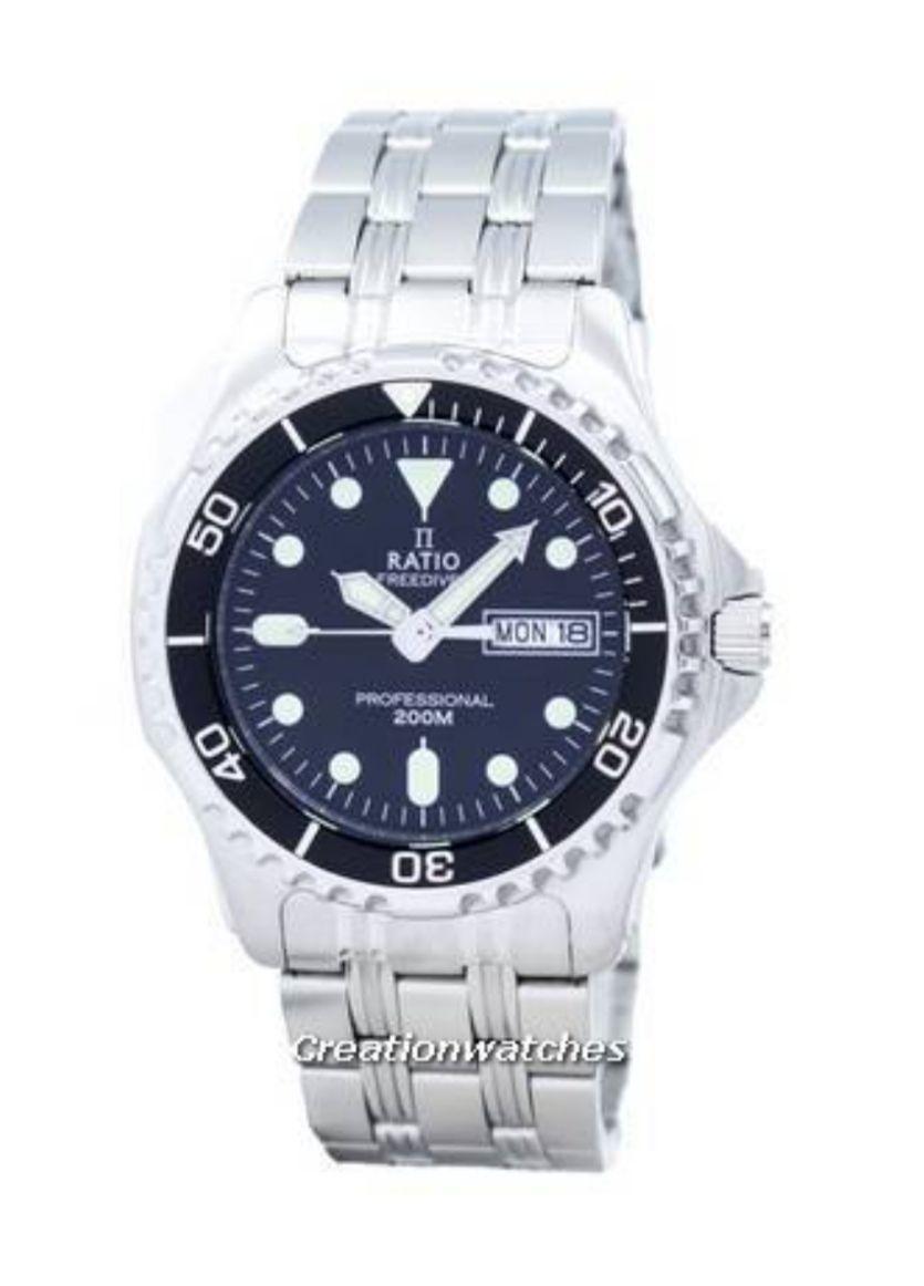 Ratio Free Diver Professional 200M Sapphire Quartz 36JL140 - Seiko Uhrwerk - Armbanduhr