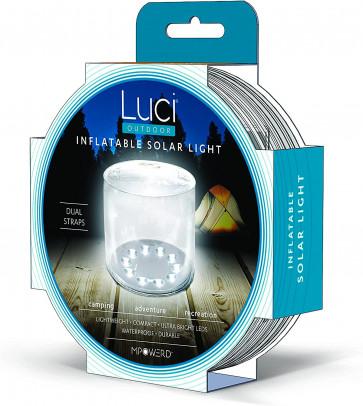 Mpowerd Luci Outdoor aufblasbare Solarlaterne (LED-Leuchte, Solarpanel, Akku, wasserdicht, 13.34x2.54x13.34cm, 113g)