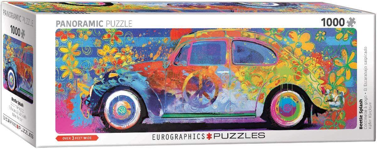 Eurographics Puzzles VW Beetle - Splash Pano 1000 Teile Puzzle [Amazon Prime Marketplace]