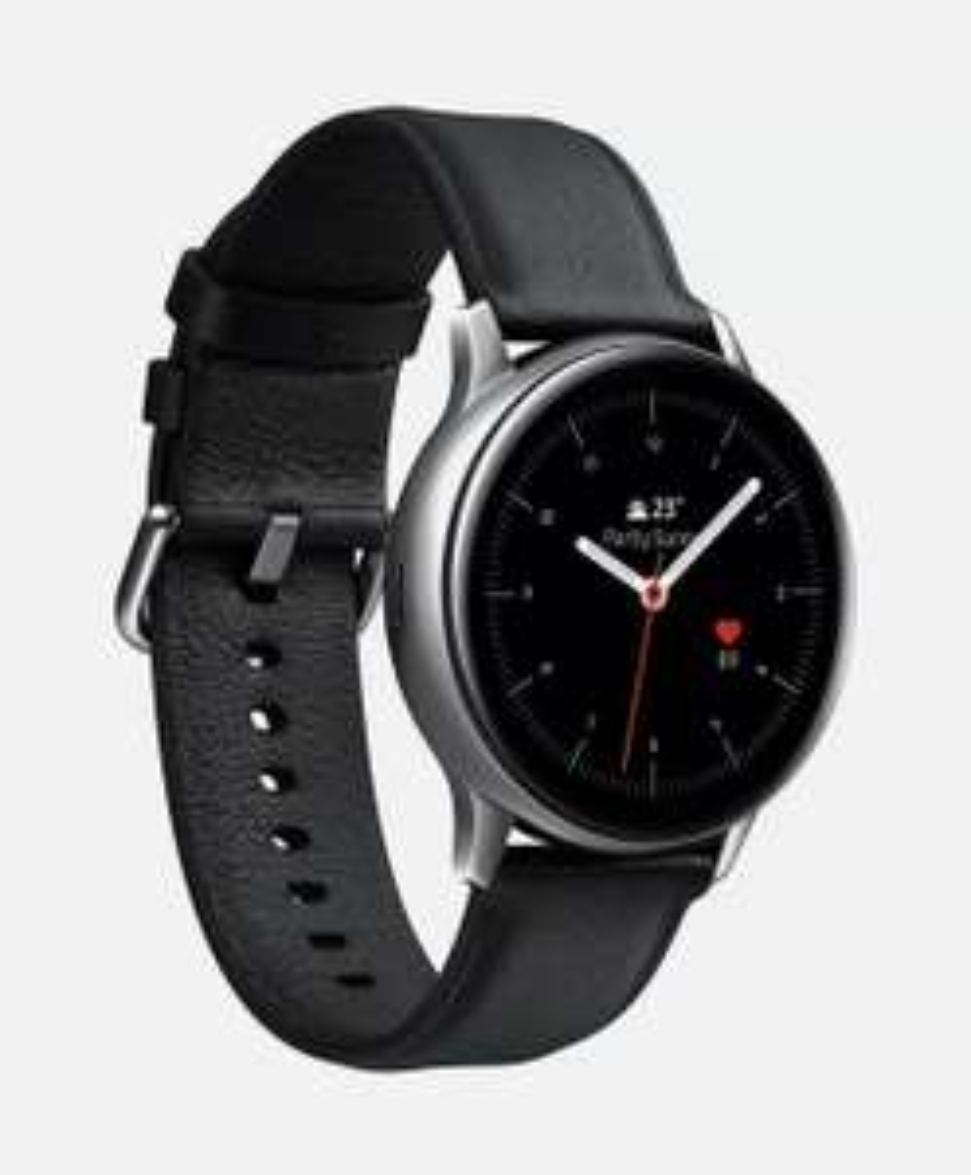 Samsung Galaxy Watch Active 2 - 44mm - Stainless Steel (Silver-black) mit Lederarmband