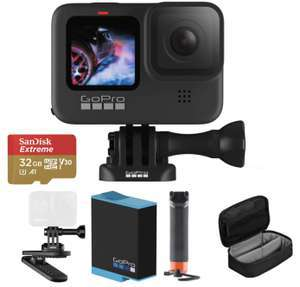 Gopro HERO9 Black + 2 Akkus + Schwimmender Handgriff + Magnetclip + Case + 32GB Extreme microSD + Gopro-Abo für 379,98€ inkl. Versandkosten