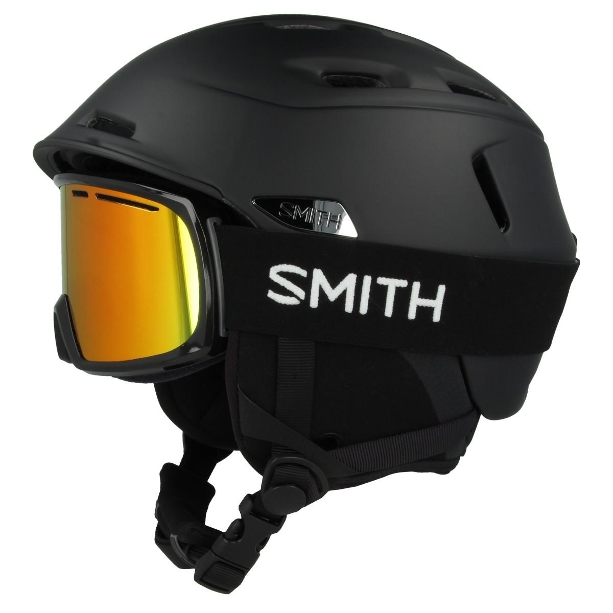 Smith Camber Range Integrated Combo Pack // Skihelm & Skibrille - Schwarz - M, L