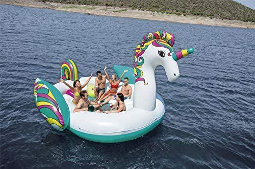 Bestway Float'n Fashion, aufblasbare Riesen Einhorn-Schwimminsel, 6 Personen, 540 kg, 603 x 419 x 277 cm, [Amazon]