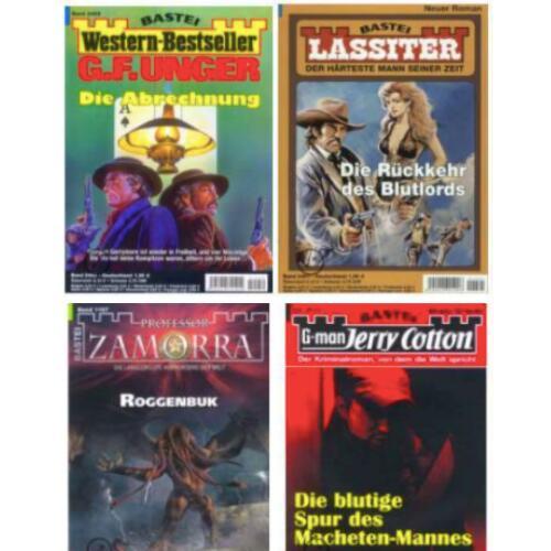 10 Western-, Liebes-, & Heftroman Jahresabos mit bis zu 47% Rabatt   Professor Zamorra   Jerry Cotton   Lassiter   Bergdoktor  