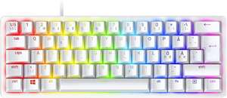 Tastatur Razer Huntsman Mini Mercury Weiss mit Lila switches, Nordic layout(Amazon Prime)