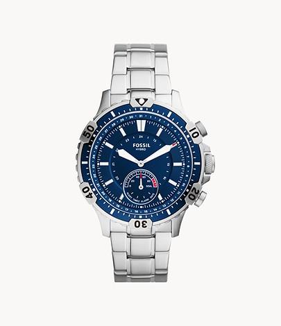 60% Rabatt auf ausgewählte Uhren & Schmuck bei Fossil + 15% on top, z.B. Hybrid Smartwatch Garrett Edelstahl