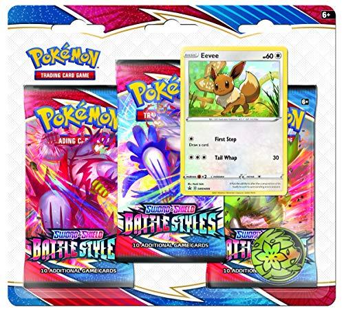 [Amazon Prime] Pokémon TCG – Sword & Shield 5 Battle Styles – 3er-Pack Booster (Einer nach dem Zufallsprinzip)
