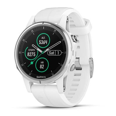 Garmin Fenix 5S Plus Sapphire - GPS/HR-Uhr - weiss ( Verbindung : WLAN, Bluetooth Smart, ANT+, mit Android- und iOS-Geräten kompatibel )