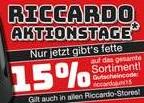 Riccardo sagt Bye zum Mai mit 15% auf Alles!