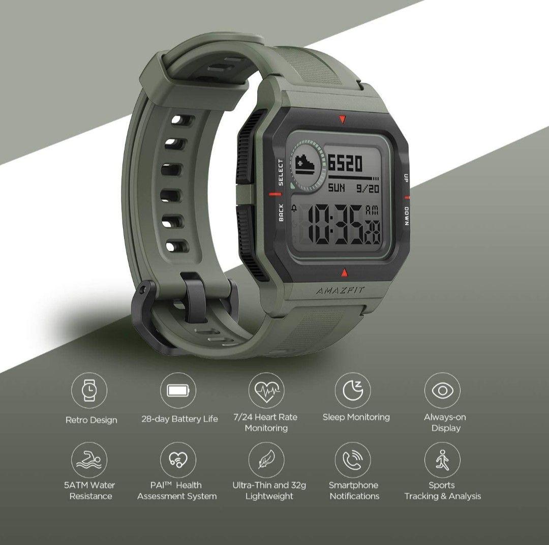 Amazfit Neo Smartwatch Grüne Retro-Design (Android & iOS)