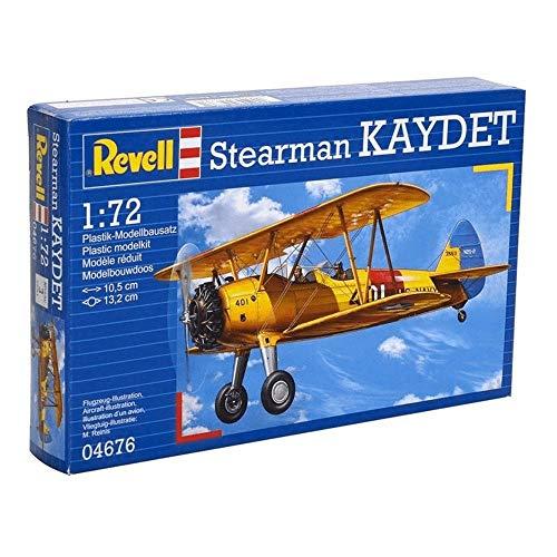 Amazon Prime Revell_04676 Modellbausatz Flugzeug 1:72 - Stearman Kaydet, Level 3