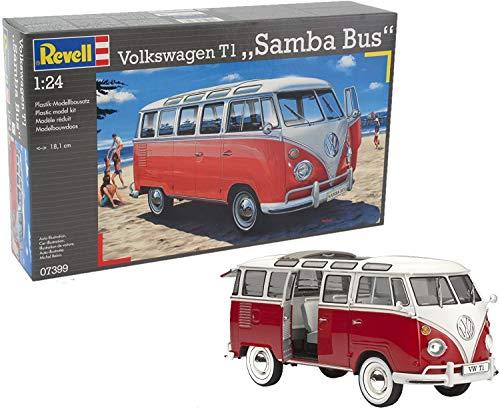 Amazon Prime Revell 07399 Modellbausatz Auto 1:24 - Volkswagen VW T1 Bulli Samba Bus, Level 5
