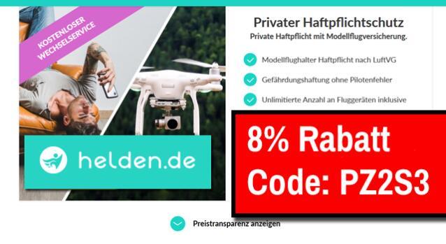 Drohnenversicherung 1 gratis Monat