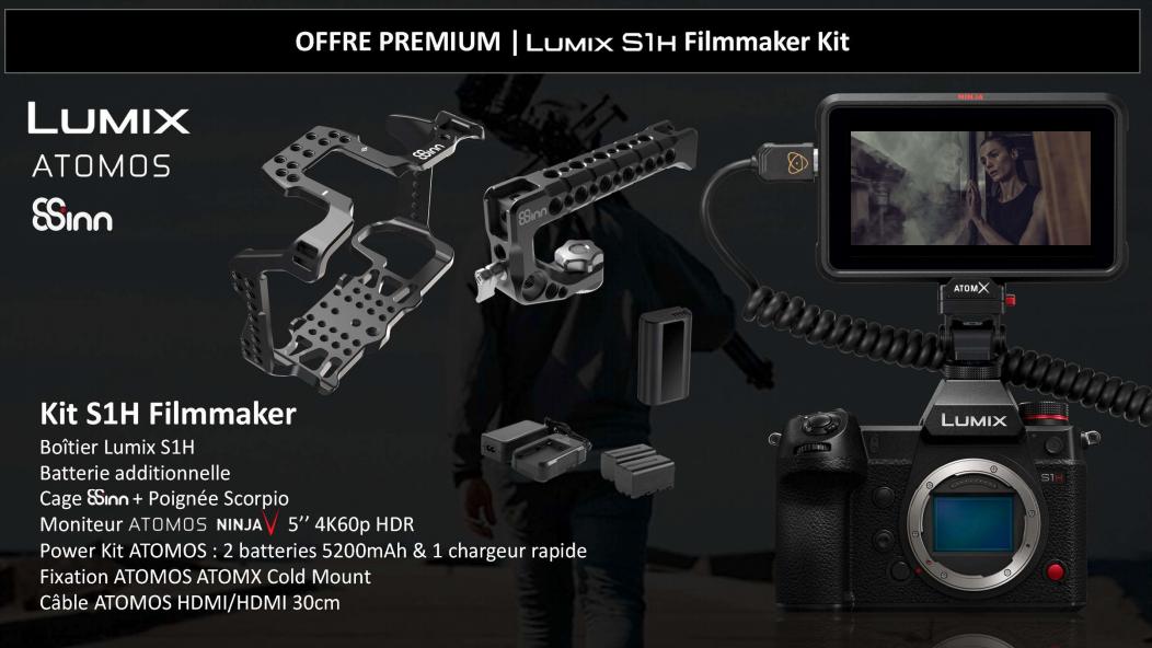 French Days bei Photo Denfert FR - z.B. Panasonic Lumix S1H Systemkamera Filmer Kit inkl. Atomos Ninja V,...