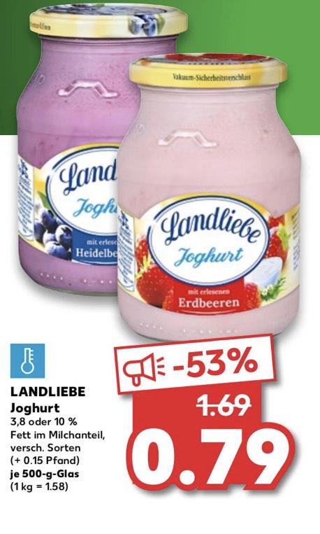 Landliebe Joghurt 500g Mehrwegglas - Kaufland