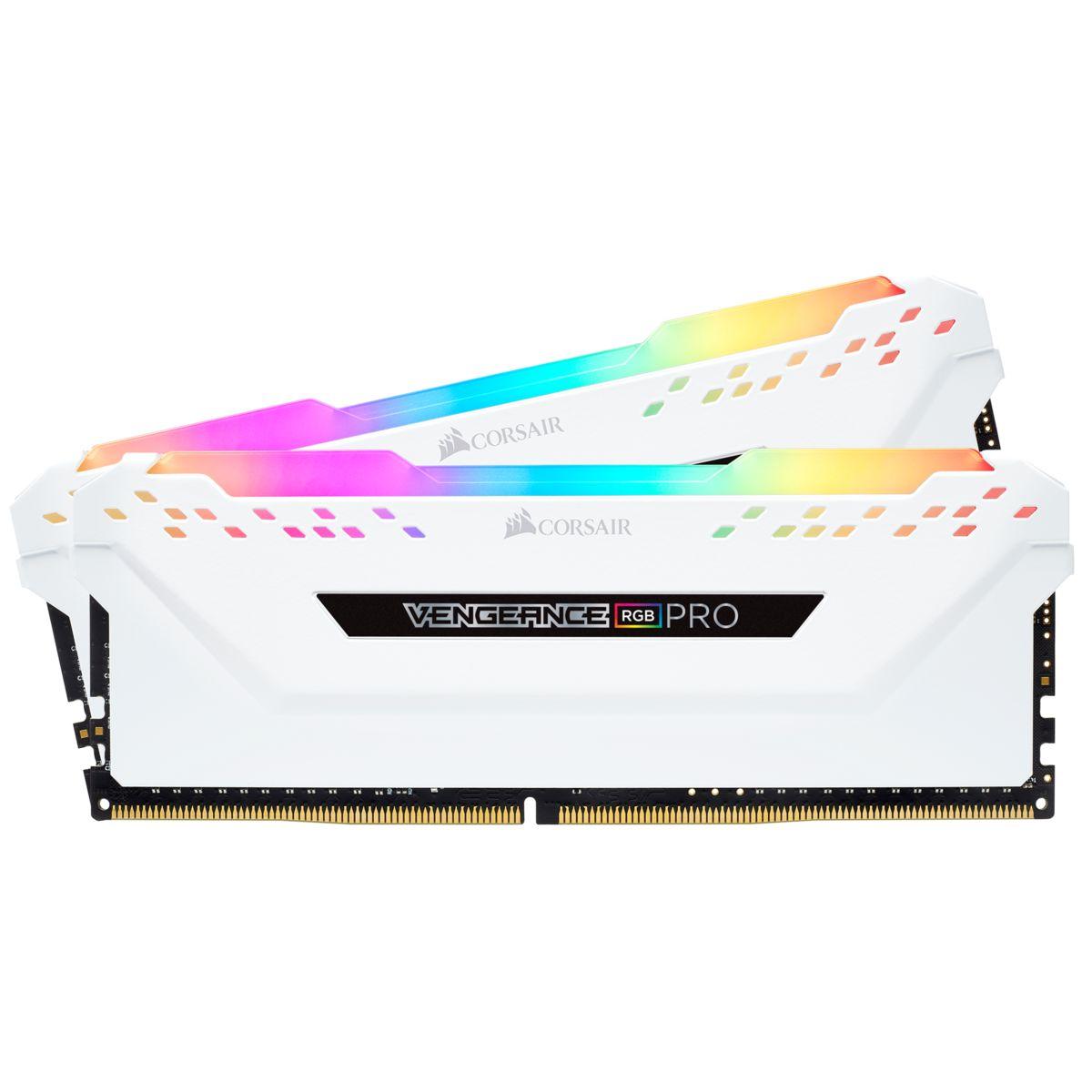 Corsair Vengeance RGB PRO weiß RAM Kit - 2x 16 GB = 32 GB - DDR4-3200 CL16-18-18-36