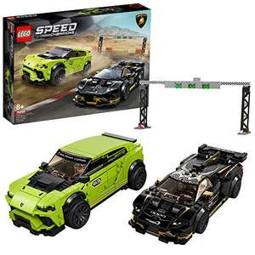 Lego 76899 Speed Champions Lamborghini Urus ST-X & Lamborghini Huracán Super Trofeo EVO (Prime)