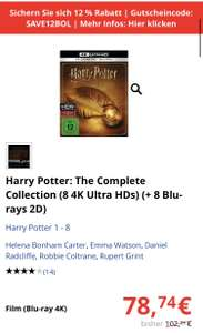 Harry Potter: The Complete Collection (4k Ultra HD Blu-ray)