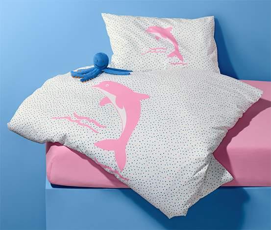 Tchibo Kleinkinder-Bettwäsche mit Punkten und Delfin-Motiv für 4 Euro zzgl. Versand oder Marktabholung (ab 20 Euro Versandkostenfrei!)