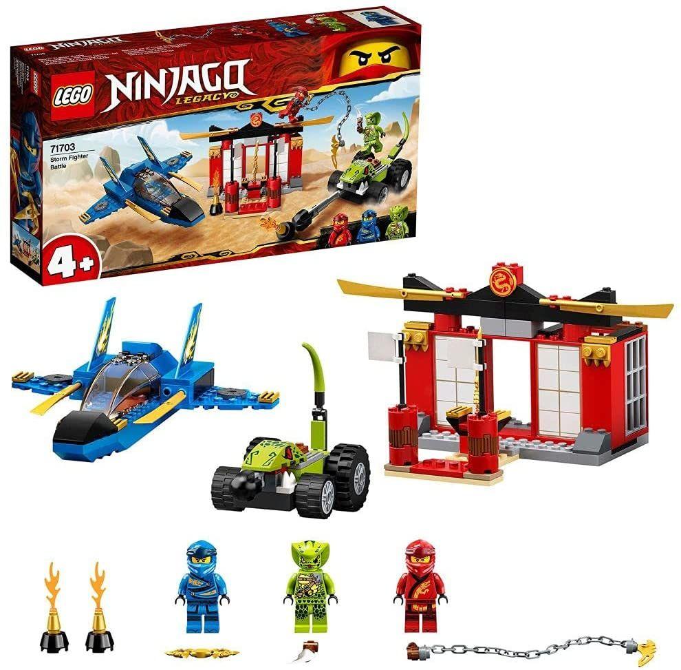 LEGO 71703 NINJAGO Legacy 4+ Kräftemessen mit dem Donner-Jet Set, Meister des Spinjitzu Spielzeuge für Kinder [Amazon Prime]